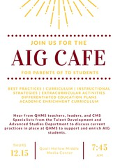 AIG Update for Parents of TD Students