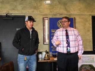 Carlos Marquez with Jeff James, Soledad High Principal