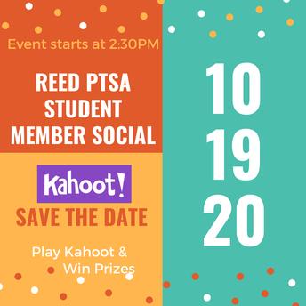 Student Member Social Kahoot Event!