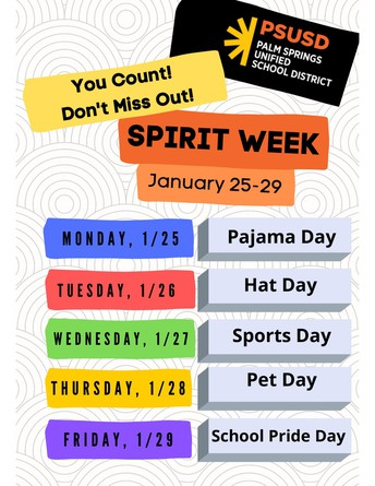 Click to view attendance spirit week flyer