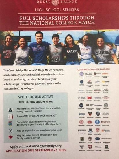 Questrbridge Scholarship Flyer