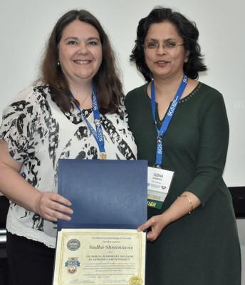 Inductee (Right) Sudha Shreeniwas