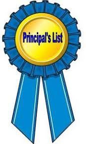 First Trimester Principal's List: All A's