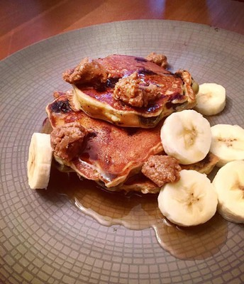 Lemon, Blueberry Protein Pancakes (recipe by Brigette Greco)