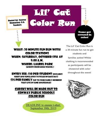Lil' Cat Color Run
