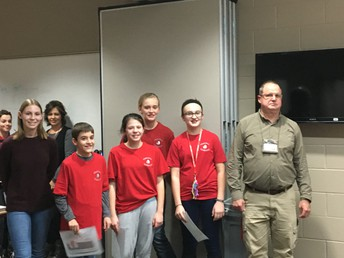 6th Graders were honored at the Feb. Board Meeting
