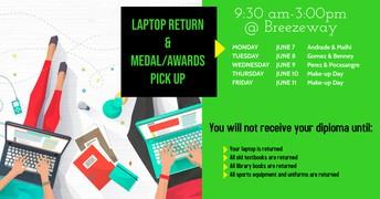 Seniors - Return your Laptops!