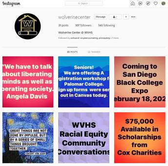 Follow the Wolverine Center on Instagram!