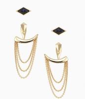 Drape Ear Jackets Gold Reg $49, Sale $25