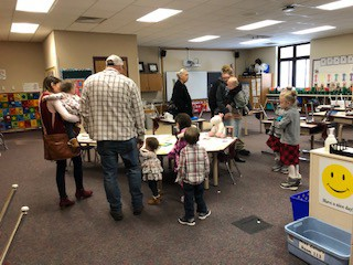 Parents visiting our Gallery Walk