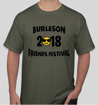 Burleson Friends Festival 2018 shirt on sale now