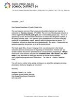 4th Grade Girls Health Letter