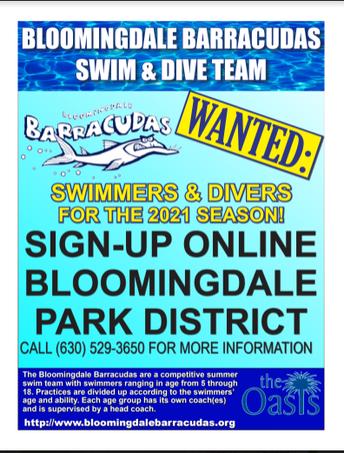 Bloomingdale Barrcaudas Swim & Dive Team