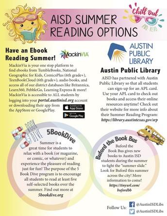 AISD Summer Reading Options