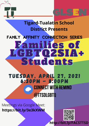 Families of LGBTQ2SIA+ Students Meeting
