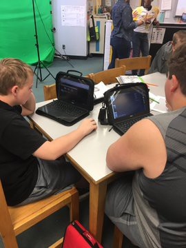 Creating videos with WeVideo.