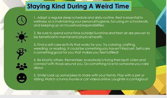 Stay Kind During a Weird Time