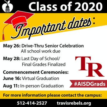 Class of 2020 - Important Dates