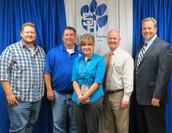 Mrs. Laura Jordan received Teacher of the Month.