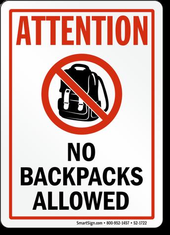 No Backpacks Friday