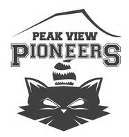 Peak View Pioneer raccoon mascot