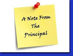 From the Principal's Desk...