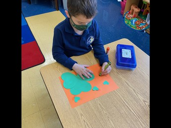 Making shamrocks with hearts