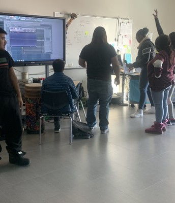 Students Recording Music