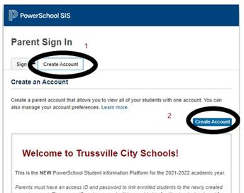 screenshot of PowerSchool parent portal homepage
