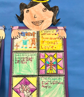 """""""A Saint is an example of God's love."""" Grade 1B student"""