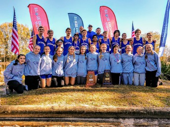 Boys and Girls with their State Trophy