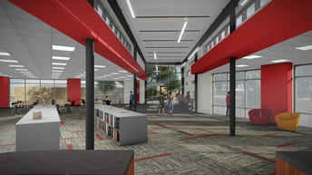 Another view of the new library