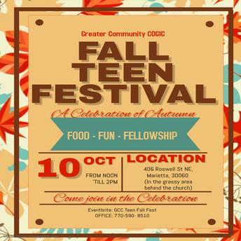 FALL TEEN FESTIVAL