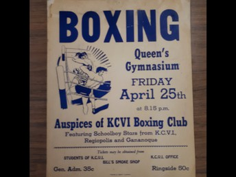 KCVI Boxing Club Poster