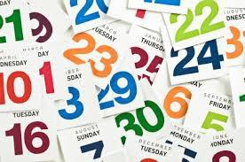 Important Dates...