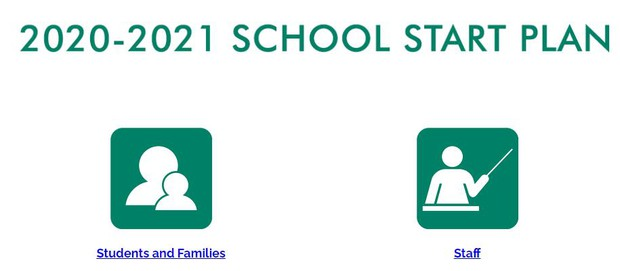 2020-2021 School Start Plan