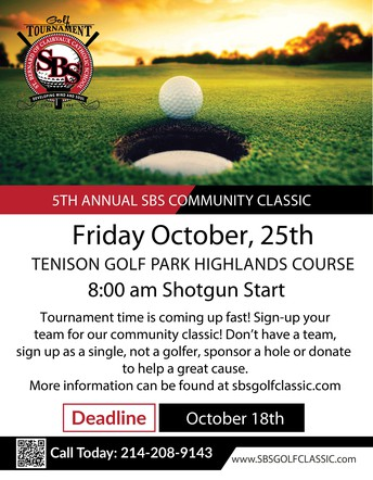 SBS Golf Tournament - Friday, October 25th