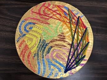 Second Grade Art - Sewing!