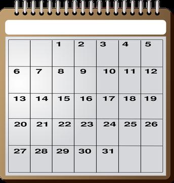 Important Dates for September