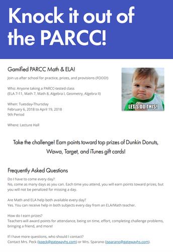 Gamified PARCC Math & ELA!