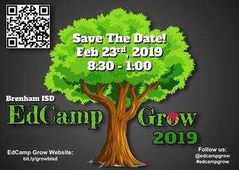 Brenham ISD to host fourth annual EdCamp Grow