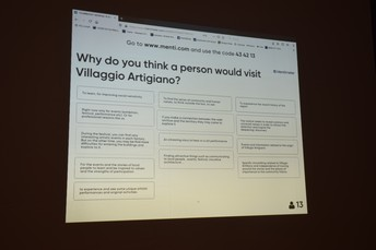 Why do you think a person would visit Villaggio Artigiano?