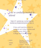 Luncheon with Superintendent Dr. D