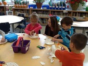 Miss Truehart working in small group