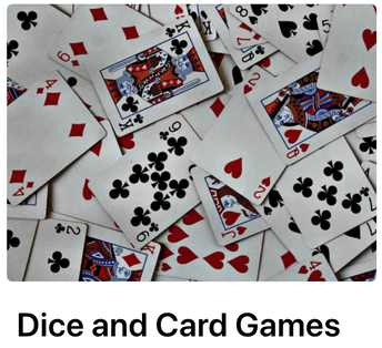 Dice and Card Games: At-Home Convergent Thinking Activities