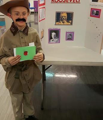 Porter Chaffee as Theodore Roosevelt