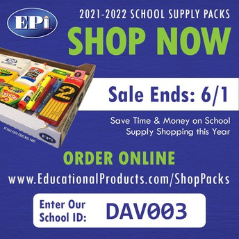 2021 - 2022 SCHOOL SUPPLIES AVAILABLE TO PURCHASE NOW
