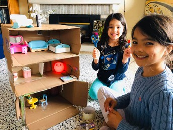 Building a house for the dolls!