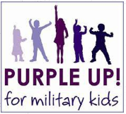 Month of the military child, purple up! for military kids!