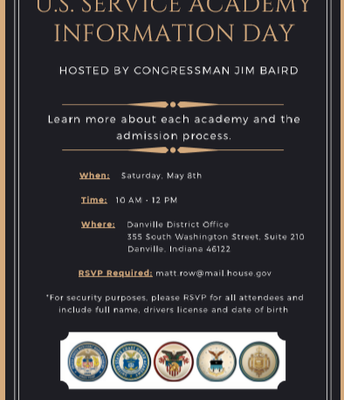 US Service Academy Information Day - May 8th